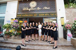 Á Hậu Việt Nam 2014 chúc mừng khai trương thẩm mỹ viện Dsunflower Spa Clinic