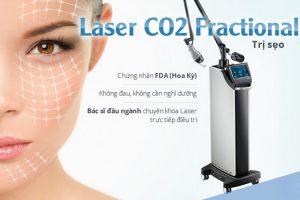 Dịch vụ điều trị mụn thịt - sẹo rỗ - lồi và lõm bắng máy Laser Co2 Fractional