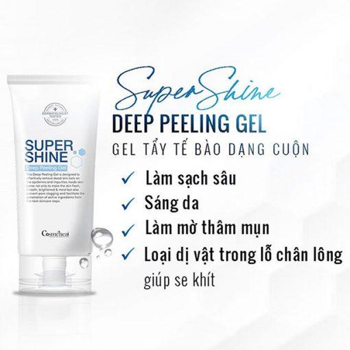 Bán sản phẩm tẩy tế bào chết dạng cuộn Supershine Deep Peeling Gel