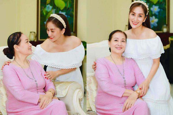 Mẹ của Khánh Thi đã U80 đẹp khó đoán tuổi