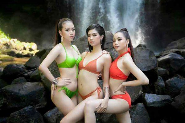 Top 30 hoa khôi chịu lạnh để chụp ảnh bikini dưới thác nước nổi tiếng